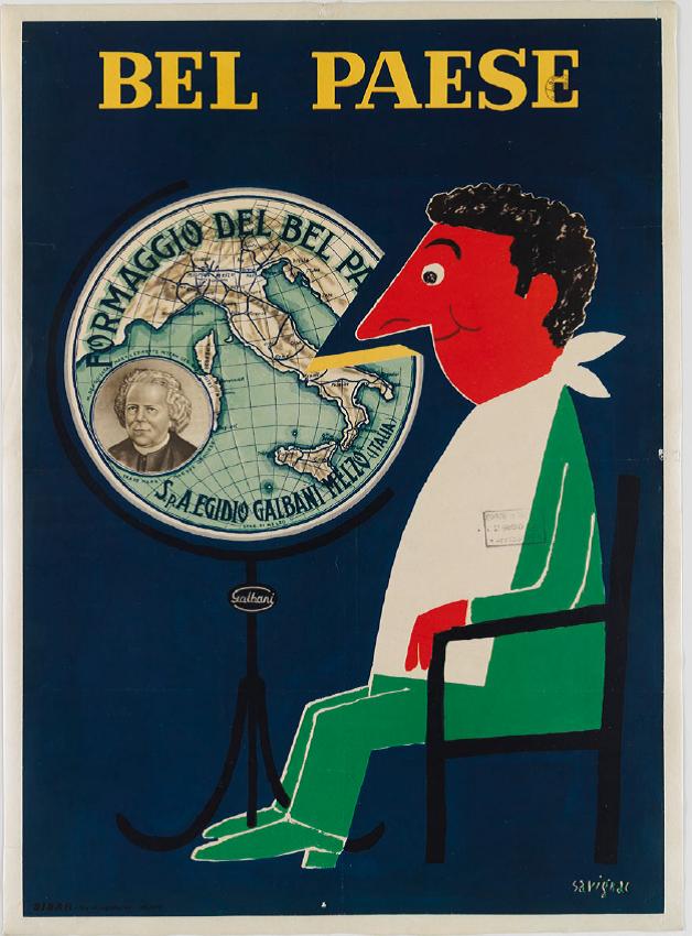 "Raymond Savignac, Bel Paese, 1947-48, Museo Collezione Salce, Treviso. Foto ""Museo Collezione Salce"" (http://www.collezionesalce.beniculturali.it/)"