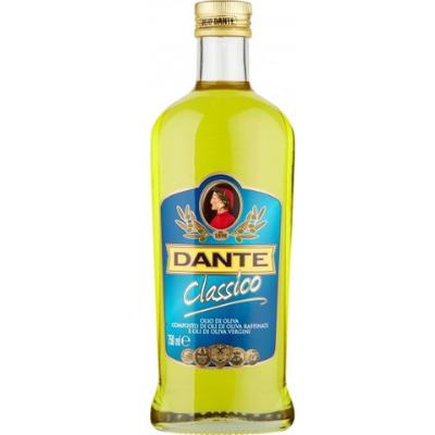 Bottiglia di olio d'oliva in commercio. Fonte https://illuminationschool.wordpress.com/2013/11/29/dante-alighieri-e-la-pubblicita-tra-pop-e-kitsch/