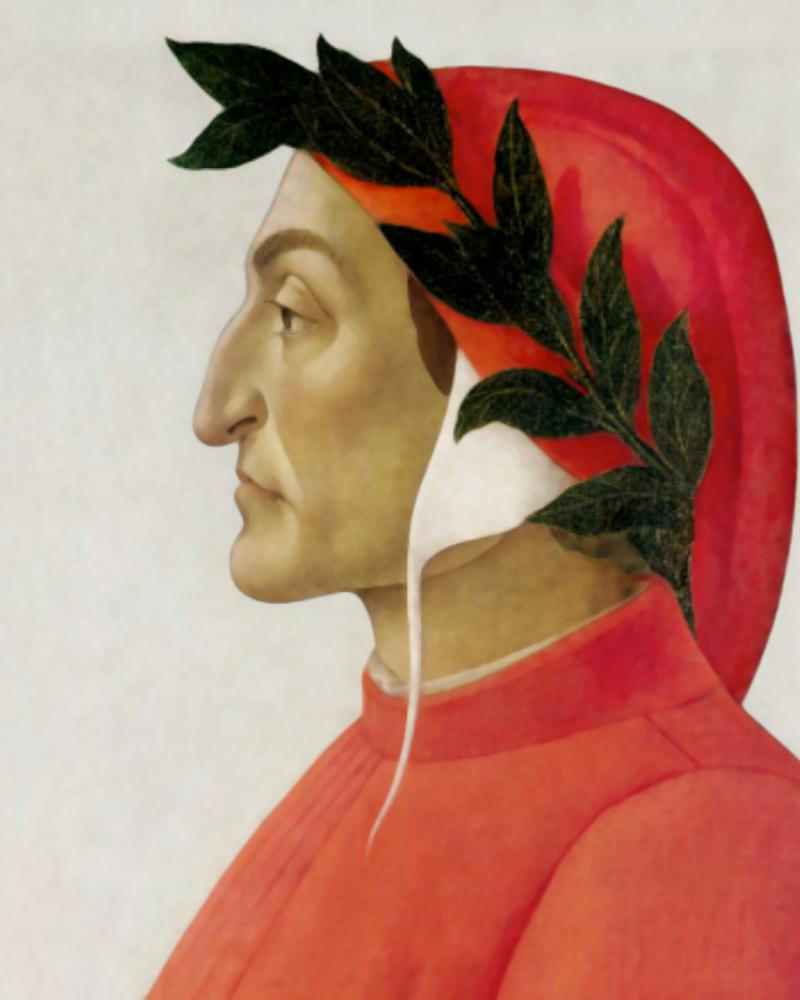 Sandro Botticelli, Ritratto di Dante Alighieri, 1495, tempera su tela, Ginevra collezione privata. Fonte: https://www.analisidellopera.it/ritratti-di-dante-alighieri/
